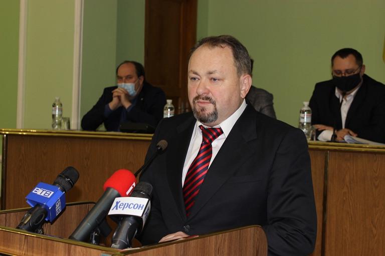 Председателем Херсонского областного совета избран Александр Самойленко