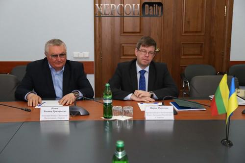 Новости Херсона. делегация Литвы в Херсоне обсудла экономику области. херсон дейли