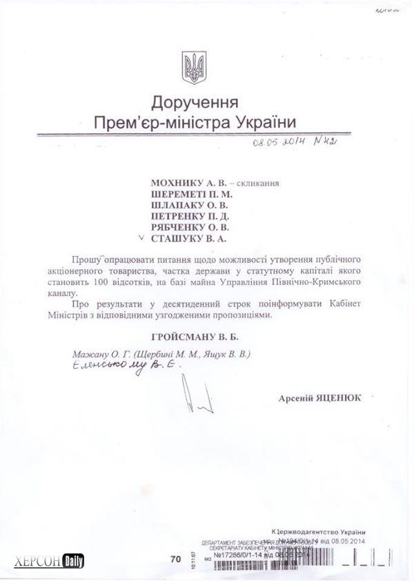 Новости Херсона. Северо-крымский канал забирает Кабмин. херсон дейли