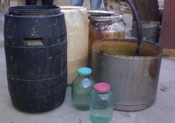 новости херона. Милиция изъяла более тысячи литров самогона
