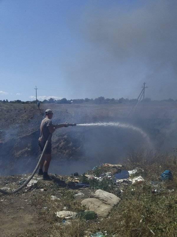 В Белозерском районе снова горят скалы