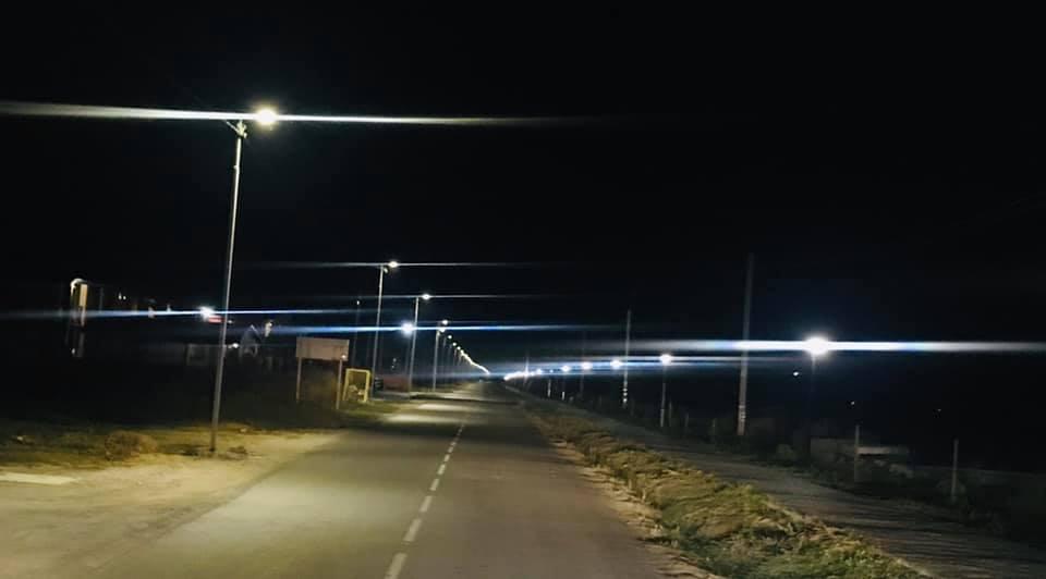 В курортном поселке на Херсонщине оснастили уличное освещение