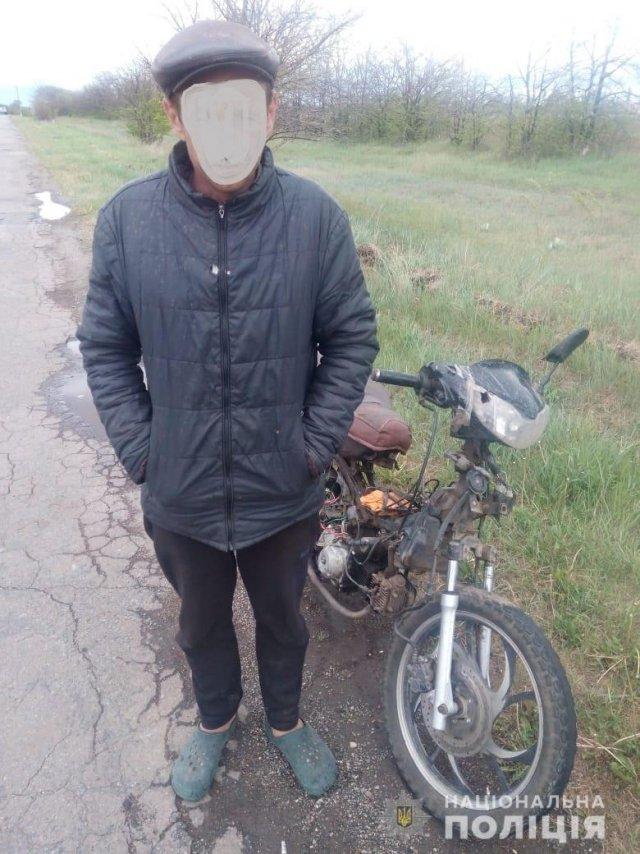 На Херсонщині затримали п'яного мопедиста з гранатою