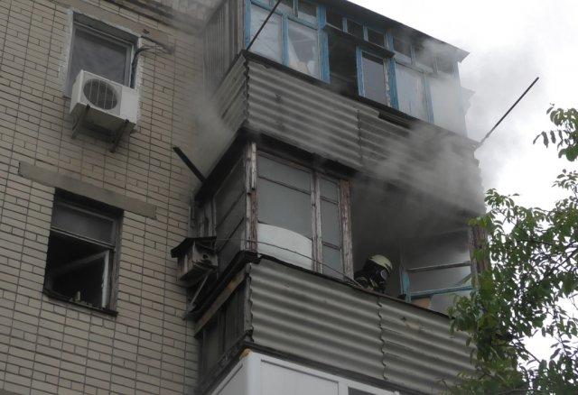 В Херсоне из-за неосторожности хозяина чуть не сгорела его квартира