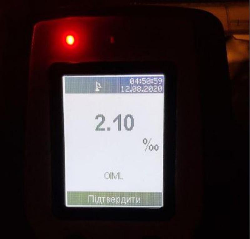 Под Херсоном патрульные остановили водителя, содержание алкоголя в крови которого превышало норму в 11 раз