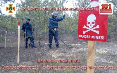 На Херсонщине местные жители обнаружили две минометные мины времен Второй мировой войны