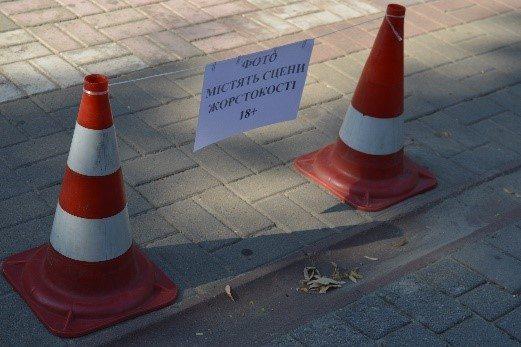 В Херсоне состоялась акция против жестокого обращения с животными: людям показали жертв живодеров