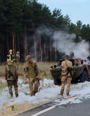 В Херсонской области сегодня горела военная техника