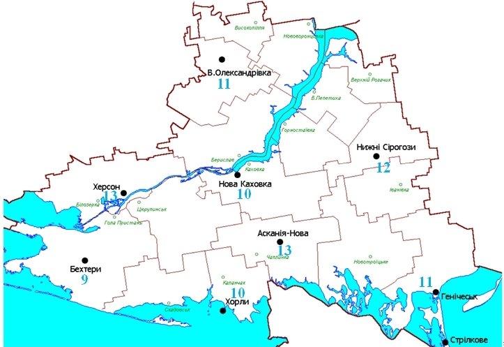 В Херсоне и Аскания Нова зафиксирован самые мощные в области дозы гамма-излучения - 13 мкР/ч (карта)