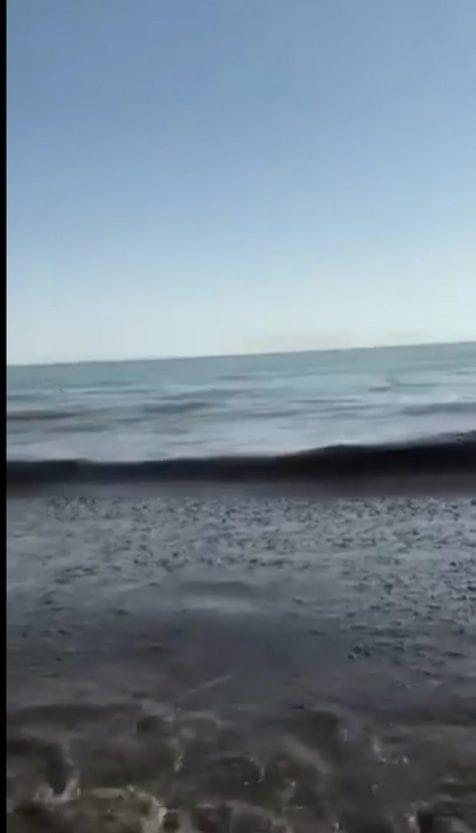На Херсонщине внезапно почернело море