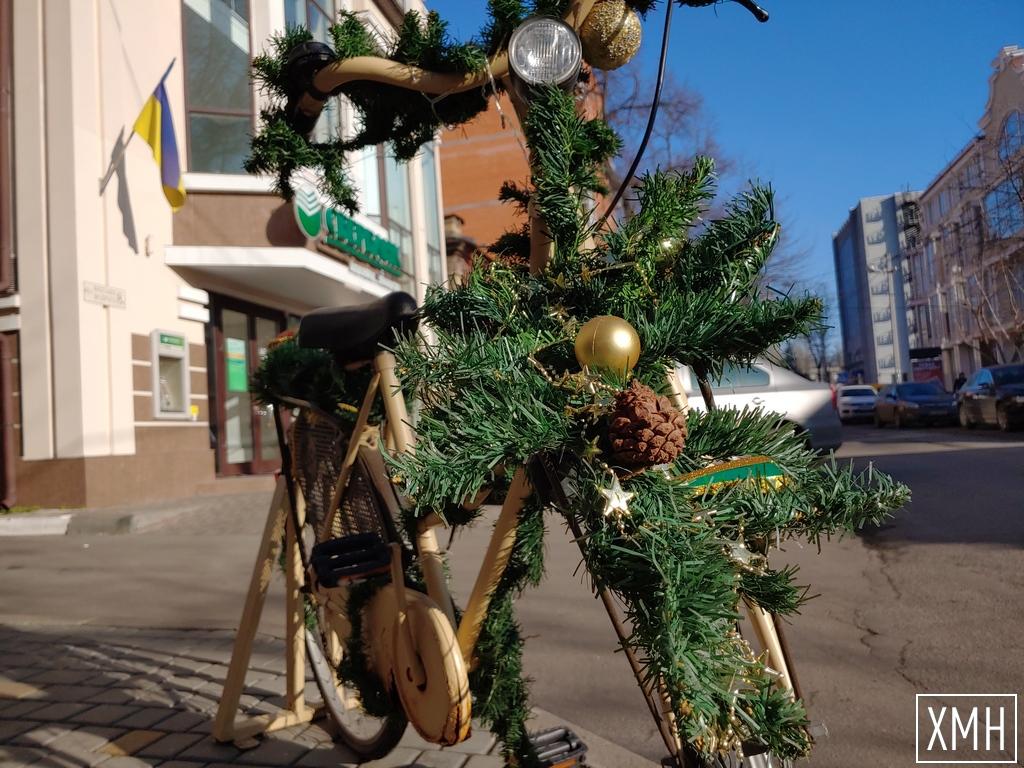 В Херсоне замечен велосипед Деда Мороза