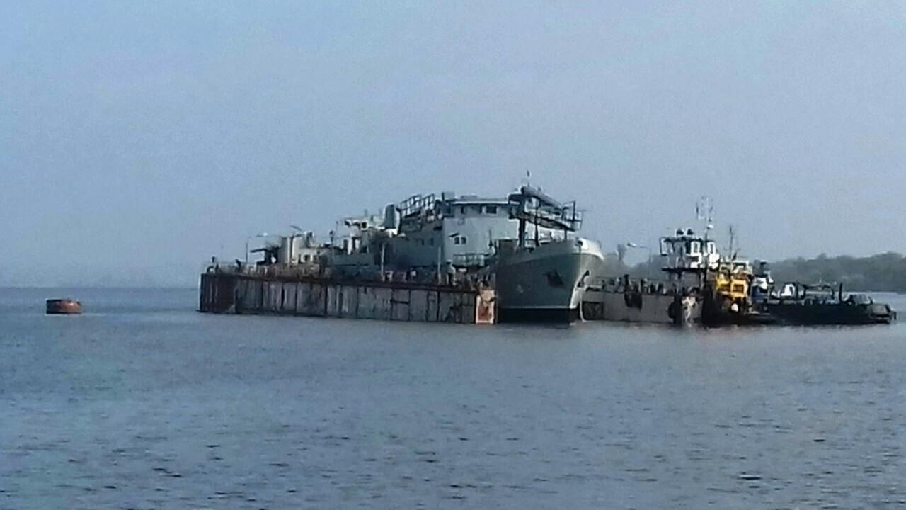 В Херсоне на воду спустили военное судно