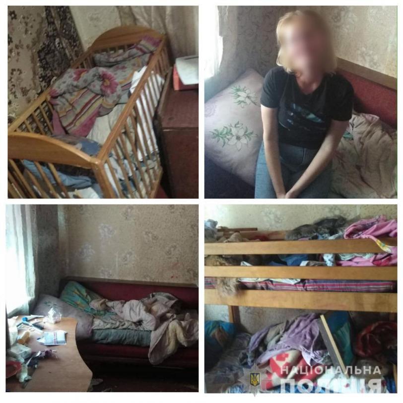Семейный скандал в Херсоне: мать семерых детей напилась и бросалась на родственников
