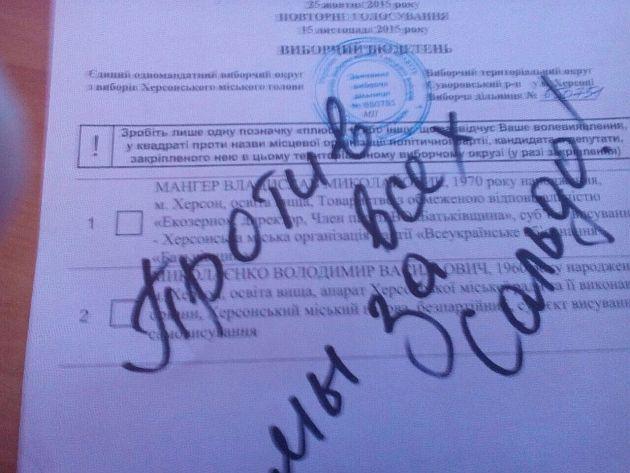 В Херсоне голосовали за Сальдо