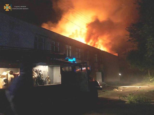 Возле Херсона в селе горел Дом культуры