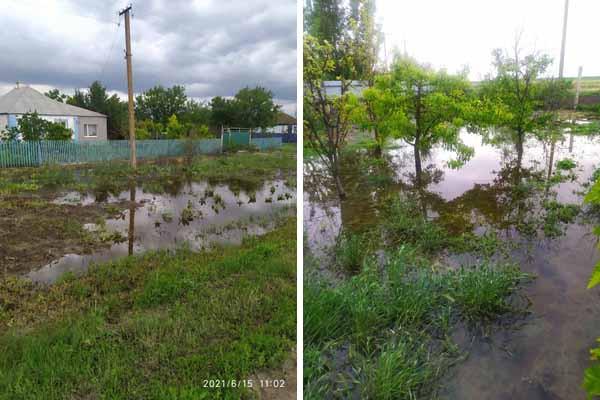 На Херсонщине село тонет после дождя