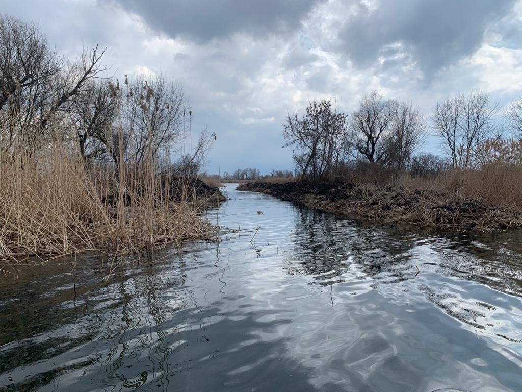 В Голопристанском районе неизвестные сделали новые протоки к озеру из реки Днепр