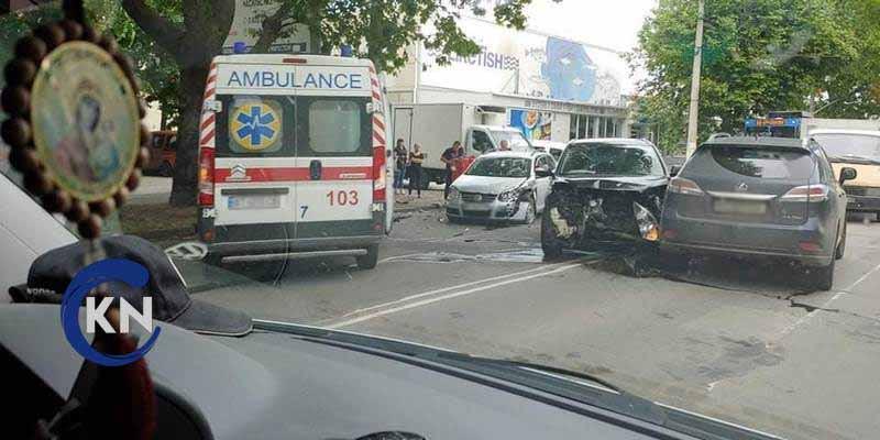 В Херсоне произошло серьезное ДТП с участием трех автомобилей